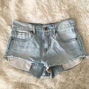 High-rise jean shorts